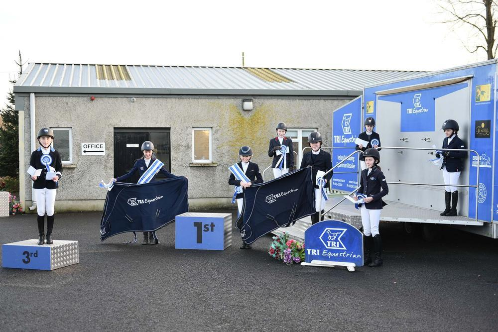 Happy Ulster Region pony athletes at Autumn Pony Tour prize giving