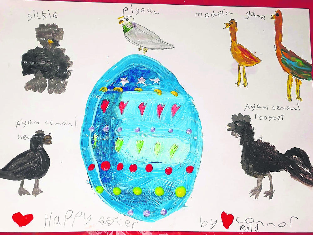 Great effort from younger poultry enthusiasts in art competition