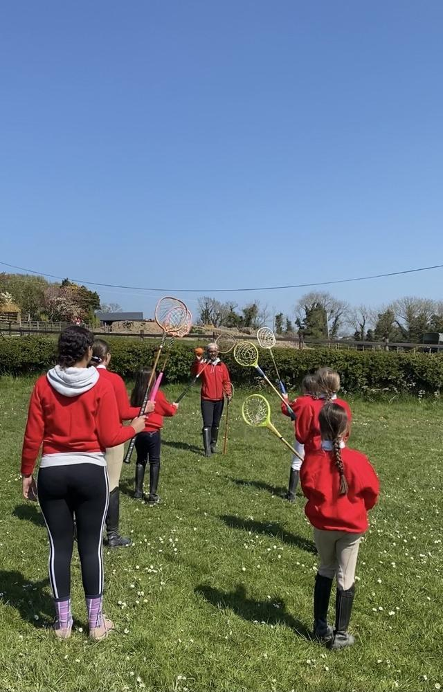 Polocrosse fun with North Down Pony Club